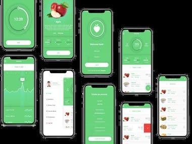 Diet calculator app