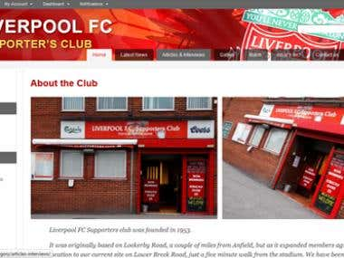 Creater of Official LFC football club website