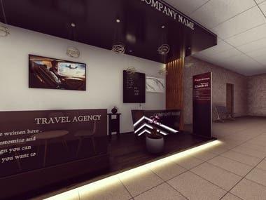 Travel company kiosk design