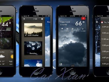 Weather app for Android and iPhone