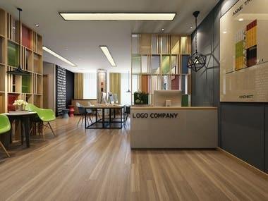 office 3d render
