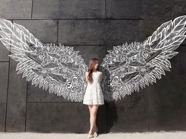 Angel Wings | Street Art Illustration