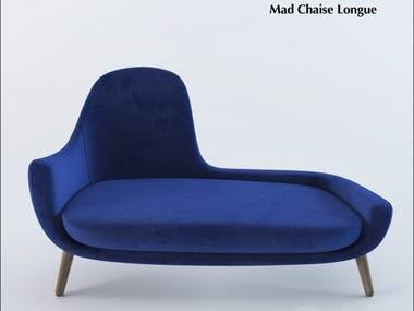 3D Modelling - Poliform Mad Chaise Longue