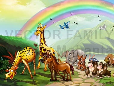 Animal related Children book style 3