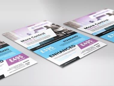 Promotional leaflet design