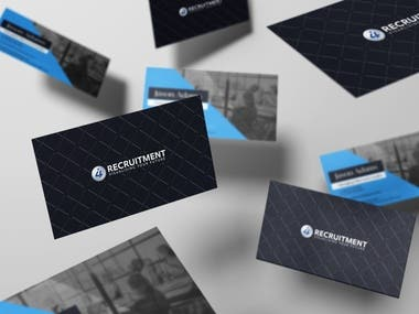Spot UV business card design