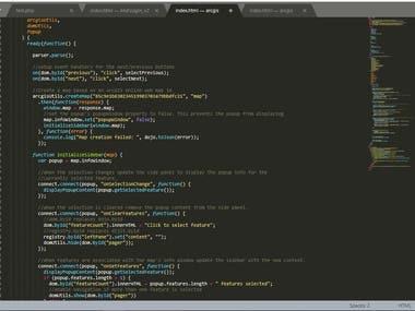 Development of web application using ArcGIS API