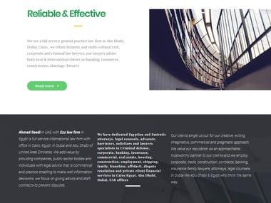 Ezz law firm website design