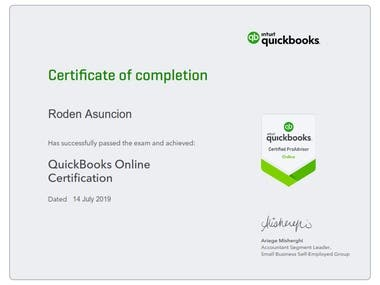 Certified Quickbooks Online ProAdvisor - Bookkeeper