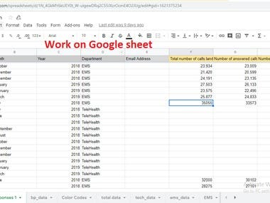 Data Entry on Google sheet for our client