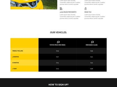 Taxi Based Website