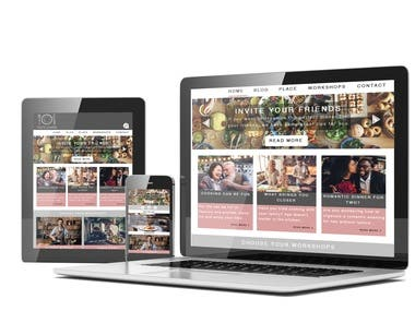 Taste Lovers website and application layout