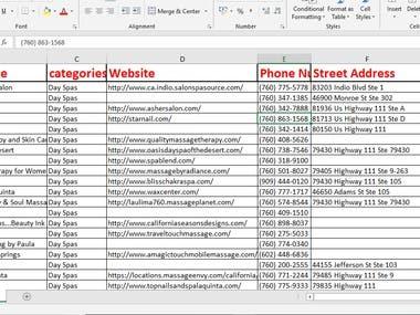 Scrape active targeted Details name/number/website/emails.