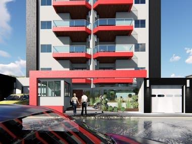 8 floors residencial build