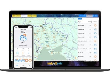 Ukraine Weather Map