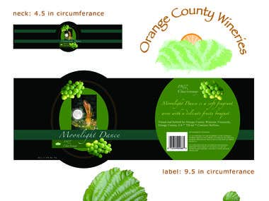 Moonlight Dance Wine Labels & Company Logo
