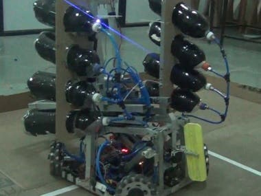 wifi and bluetooth control robot with penumatic power