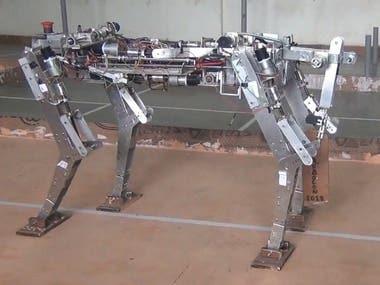 human size quadruped robot