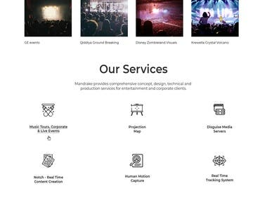 Web Home Page Design