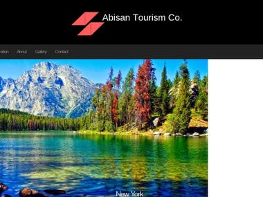 First page of tourism Website