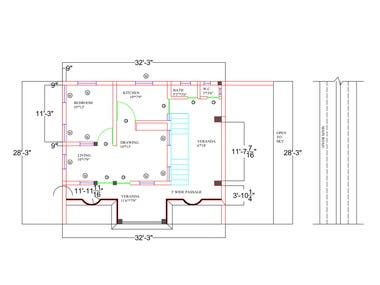 Autocad plan and Drawing Layout
