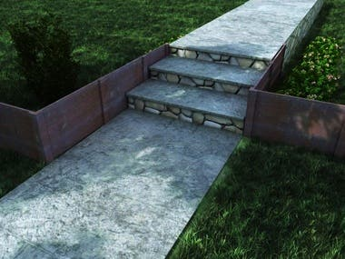 Retaining Wall design and rendering.