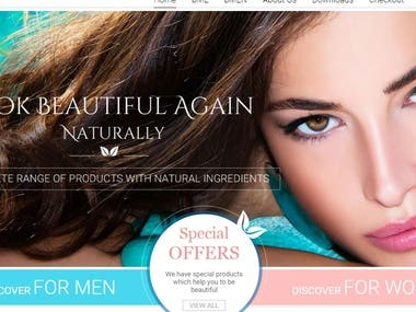 Woocommerce website.