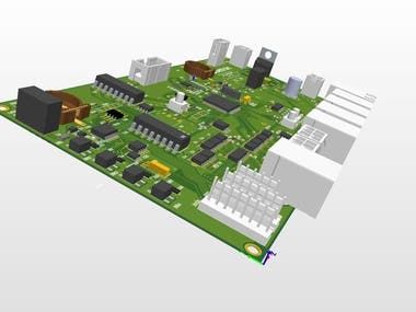 PCB with 3D footprint