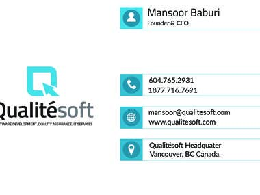 Business Card Design for Qualitesoft