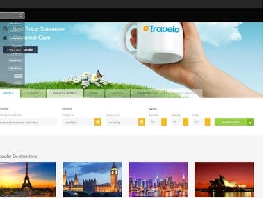 Travel Website.