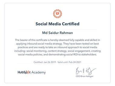 Social Media and Inbound Sales Certified....