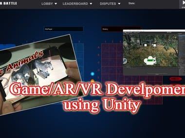 AR/VR - Unity3d Game