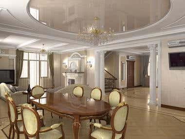 3d render_interior design_residental house