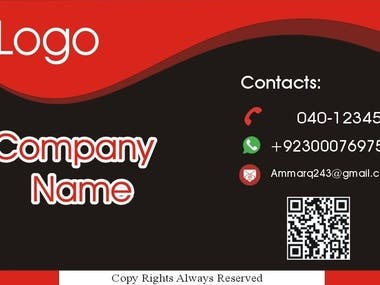 I will Create 4 Different Business Card Design Within 4 Hour