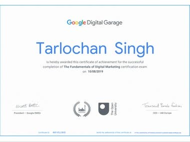Expert In Digital Marketing ( Certified By Google )