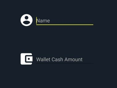 UI design of my app Cash Control