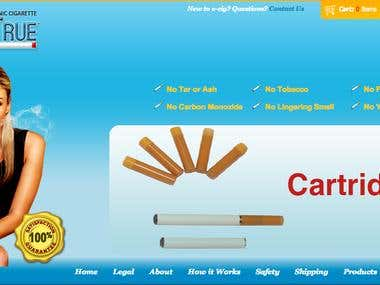 Smoketrue an e-commerce site