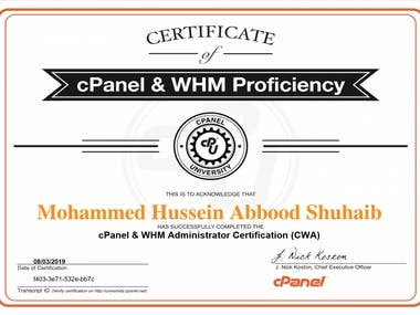 cPanel & WHM Proficiency