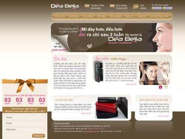 Deabella VN Website Layout