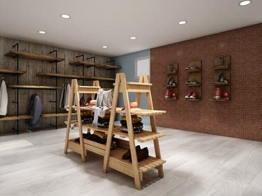 3D Modeling and Designing of Retail Store