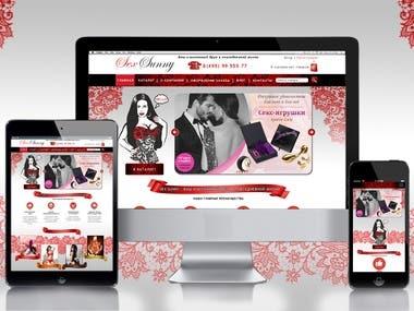 website sexsunny.ru, branding