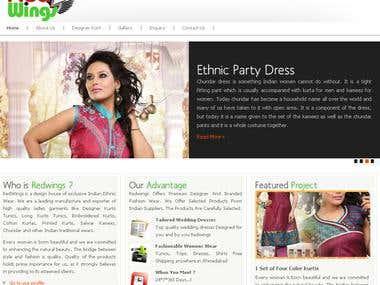 WebSite Design for Garment Manufacturer