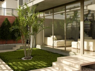 Casa de H° A° - Jardín