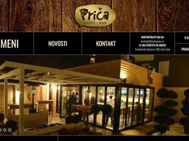 Caffe Bar Prica - Caffe bar WordPress Woocommerce site