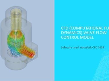 CFD (Computational Fluid Dynamics) Valve flow control model