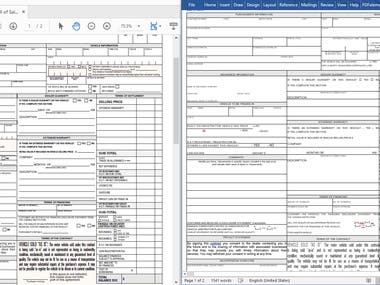 PDF FORM TO FILLABLE, EDITABLE