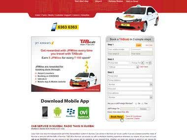 Online taxi cab booking system