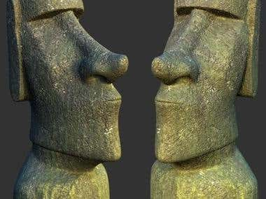 Easter Island Head; HD Model and Render
