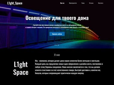 Product Page | Light_Space