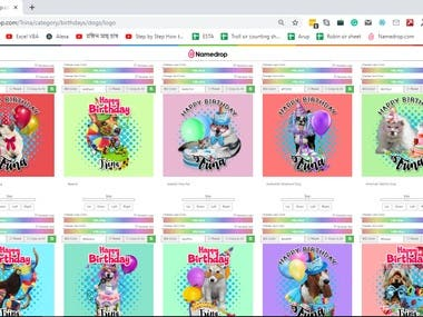 Update images on Namedrop.com using color picker tool